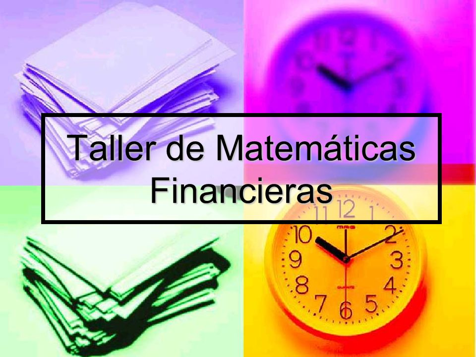 Matemáticas Financiera Solución: VF = 100; n = 3; i = 0.09; VA = .