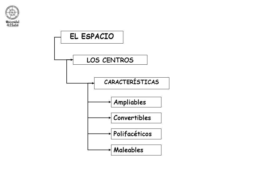 EL ESPACIO CARACTERÍSTICAS LOS CENTROS Ampliables Convertibles Polifacéticos Maleables