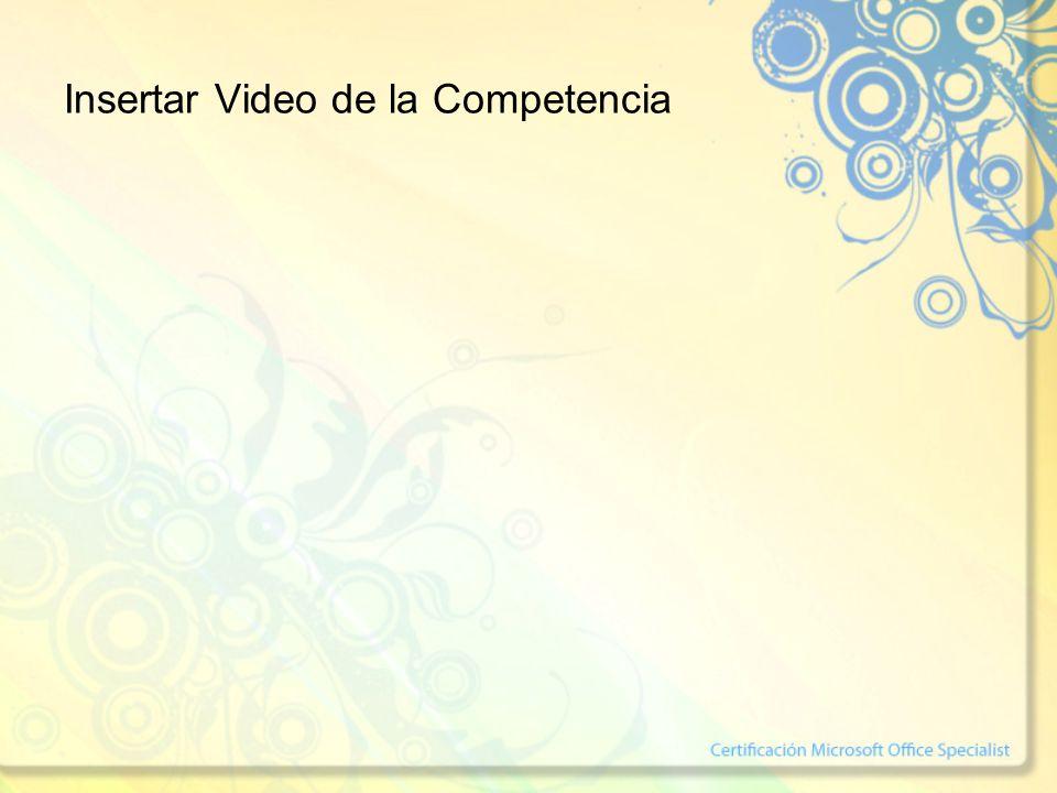 Insertar Video de la Competencia