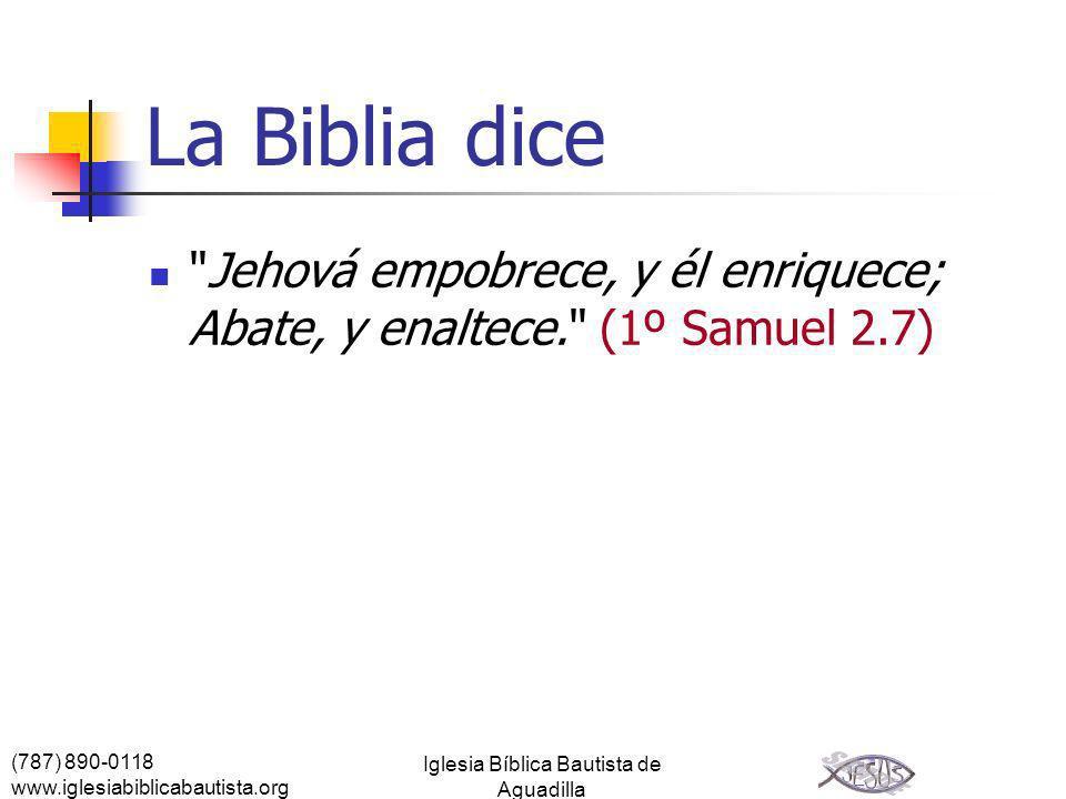 (787) 890-0118 www.iglesiabiblicabautista.org Iglesia Bíblica Bautista de Aguadilla La Biblia dice