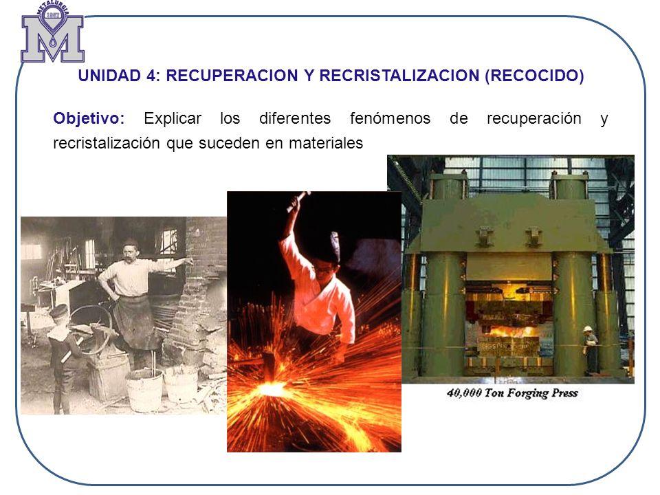 Efecto de la pureza y tamaño de grano inicial sobre la recristalización: ElementoAumento T °C Ni0 Co15 Fe15 Ag80 Sn180 Te240 Aumento de la temperatura de recristalización del Cu puro por la adición de 0,01 % at.