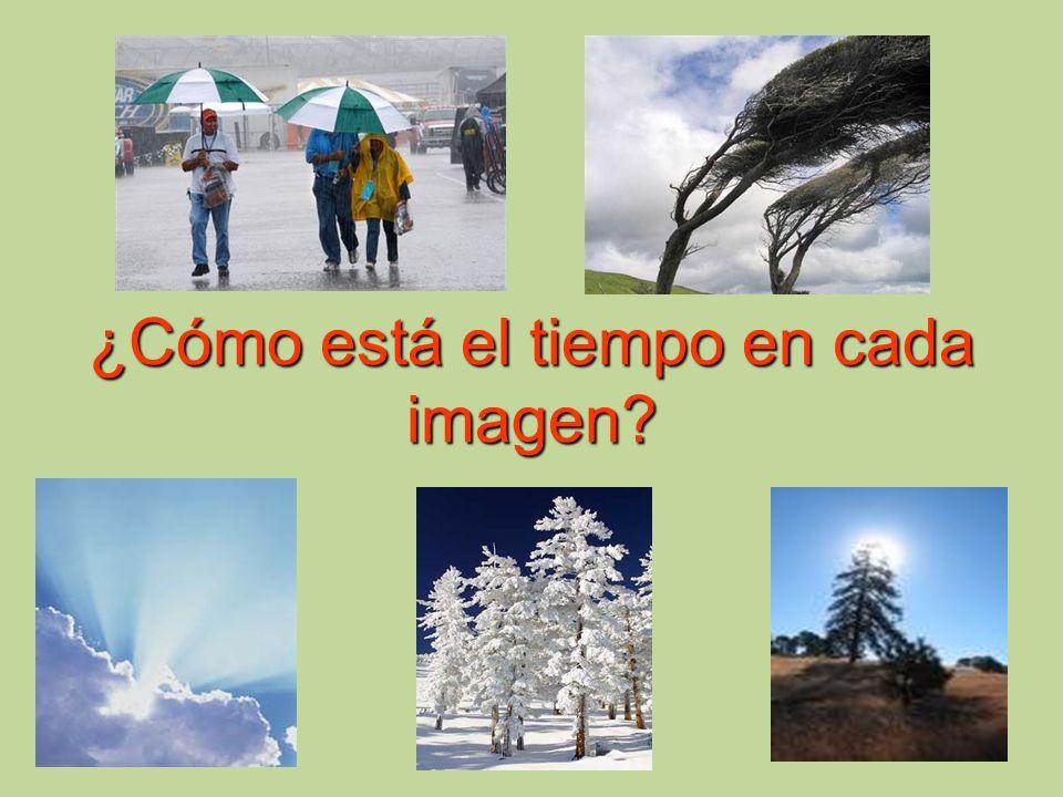 ¿Cómo está el tiempo en cada imagen?