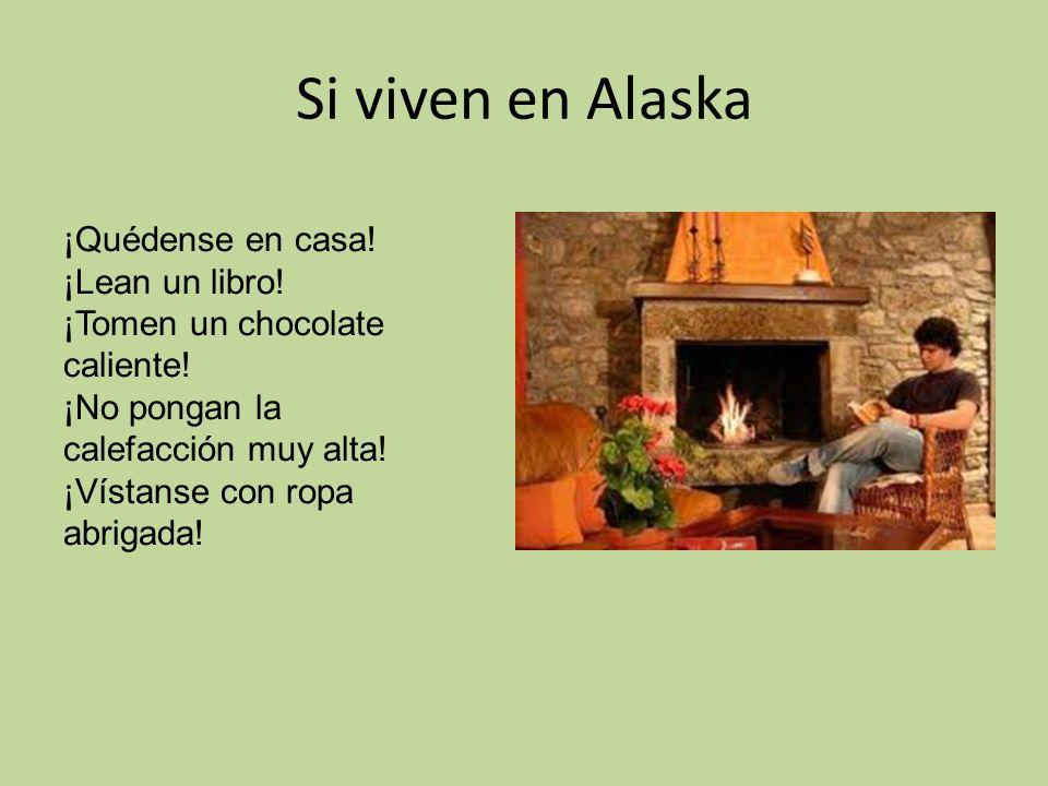Si viven en Alaska ¡Quédense en casa.¡Lean un libro.