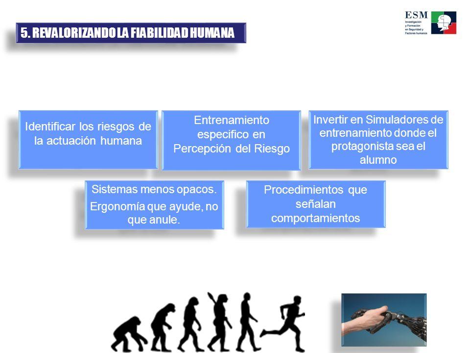 5.REVALORIZANDO LA FIABILIDAD HUMANA Sistemas menos opacos.