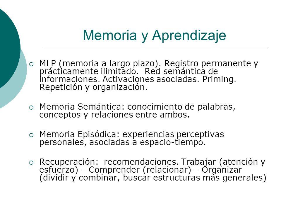 Memoria y Aprendizaje MLP (memoria a largo plazo).