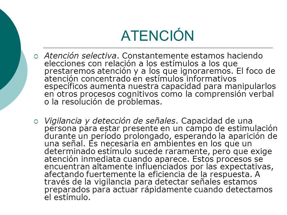 ATENCIÓN Atención selectiva.