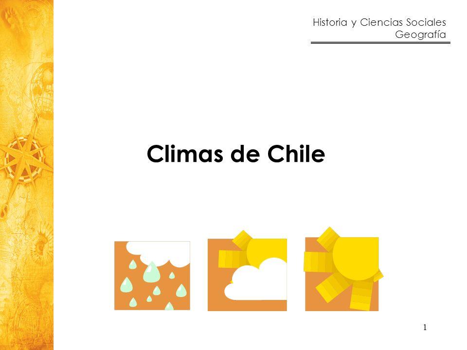 Historia y Ciencias Sociales Geografía 12 El clima se encuentra condicionado por los factores que son ciertos fenómenos naturales (relieve, altura, entre otros) que determinan el comportamiento del clima.