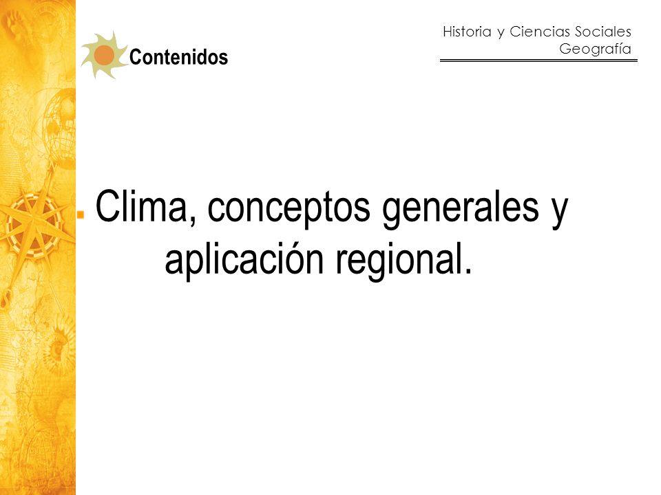 Historia y Ciencias Sociales Geografía 33 Climograma representativo del clima templado lluvioso.