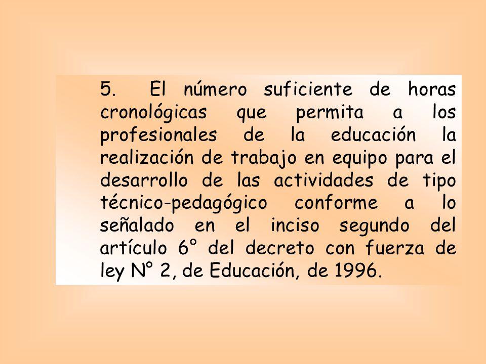 ARTÍCULO 17 En el proyecto de Jornada Escolar Completa Diurna se deberá especificar : 1.