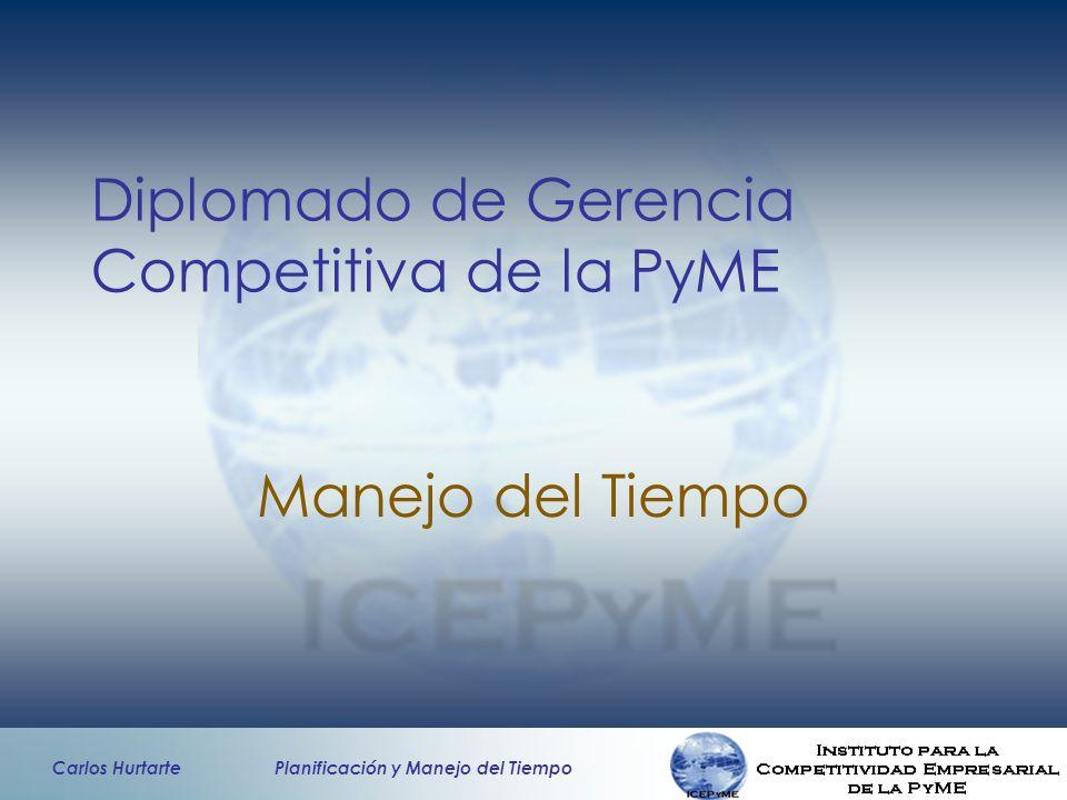 Carlos Hurtarte Planificación y Manejo del Tiempo Diplomado de Gerencia Competitiva de la PyME Manejo del Tiempo