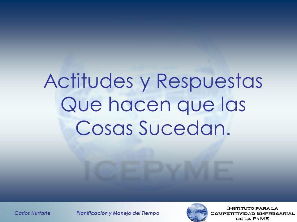 Carlos Hurtarte Planificación y Manejo del Tiempo Actitudes y Respuestas Que hacen que las Cosas Sucedan.