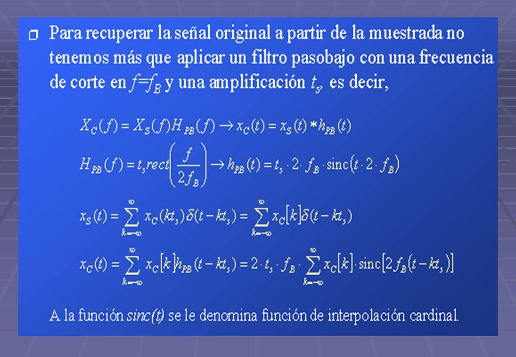 TECNICAS DIGITALES III42 Este tipo de reconstrucción tiene los siguientes problemas : Este tipo de reconstrucción tiene los siguientes problemas : El dominio de la función sinc es infinito El dominio de la función sinc es infinito Requiere muestreo pasados y futuros.