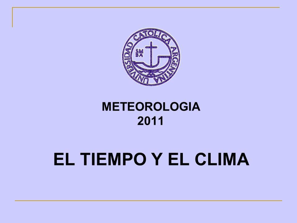 Tiempo y Clima Tiempo:Es el estado actual o de un momento determinado de todos los elementos meteorológicos que caracterizan el estado de la atmósfera en un momento dado.