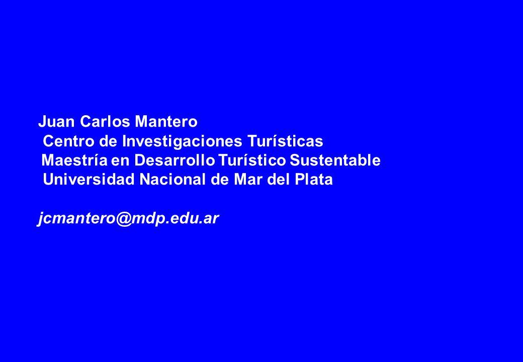 Juan Carlos Mantero Centro de Investigaciones Turísticas Maestría en Desarrollo Turístico Sustentable Universidad Nacional de Mar del Plata jcmantero@mdp.edu.ar
