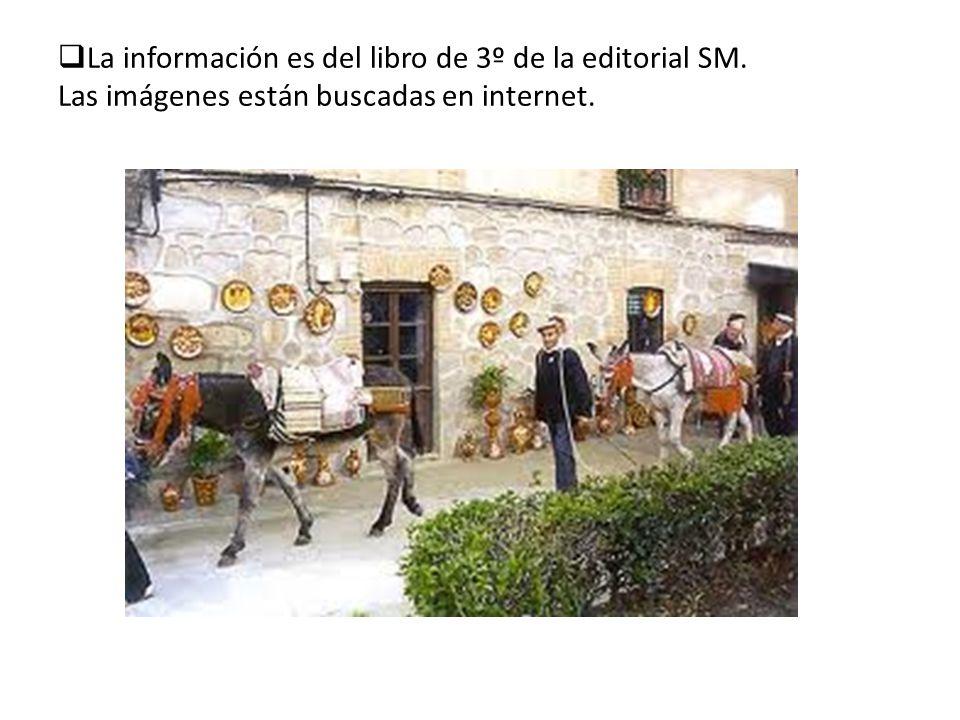 La información es del libro de 3º de la editorial SM. Las imágenes están buscadas en internet.