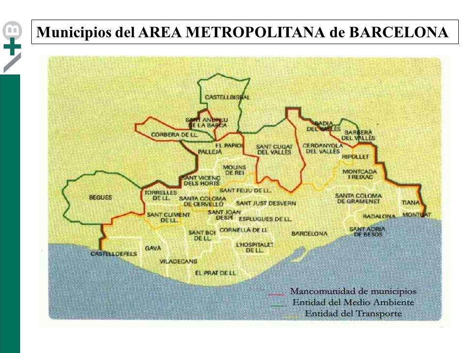 Municipios del AREA METROPOLITANA de BARCELONA