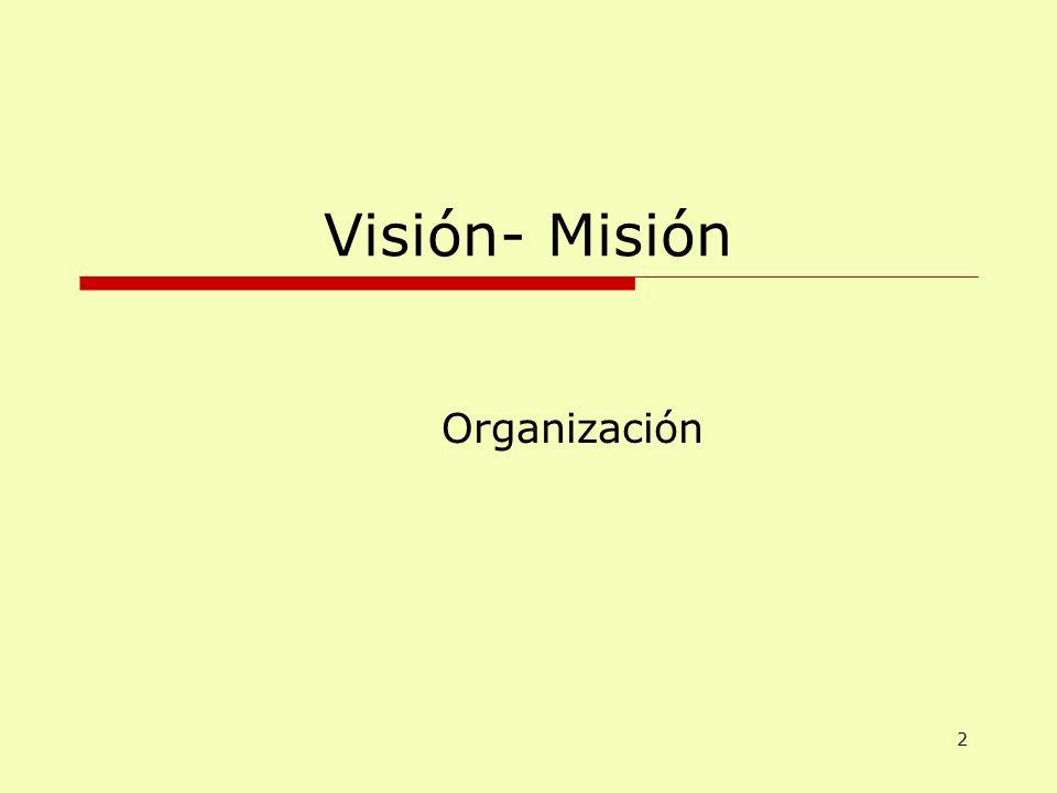 Visión- Misión Organización 2