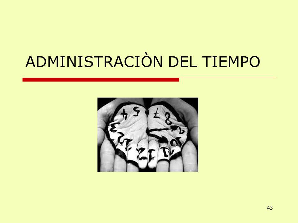 ADMINISTRACIÒN DEL TIEMPO 43