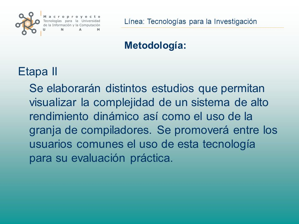 Línea: Tecnologías para la Investigación Balanceo de Cargas