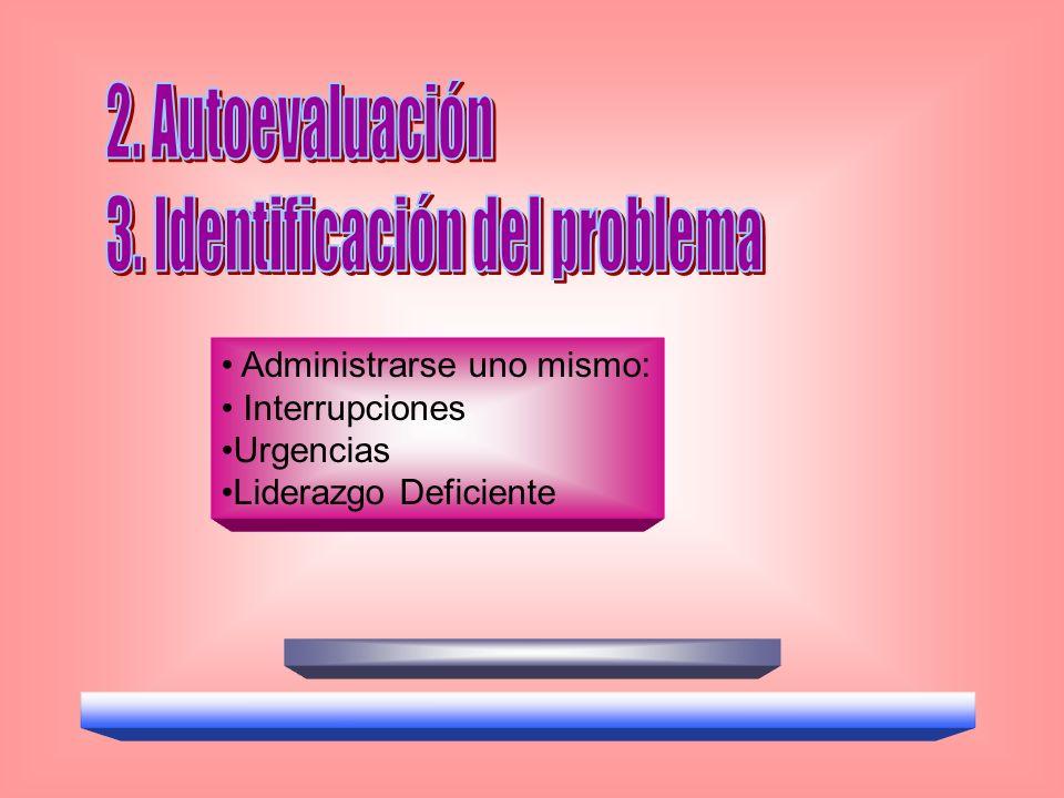 Administrarse uno mismo: Interrupciones Urgencias Liderazgo Deficiente
