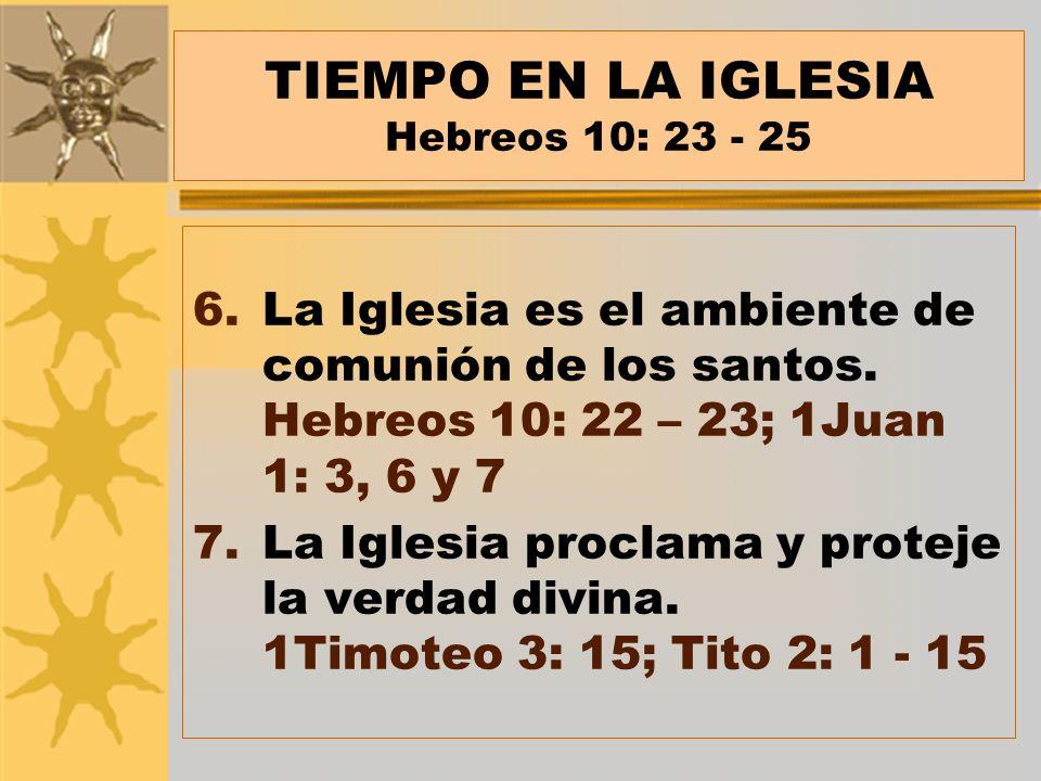 Administración de nuestro tiempo Hebreos 10: 23 – 25 Mateo 7: 21 – 23; 24 – 27 ORAR LEER CONGREGARSE Juan 17: 1 – 6 He acabado la obra que me diste que hiciese Miércoles 02.05.2012