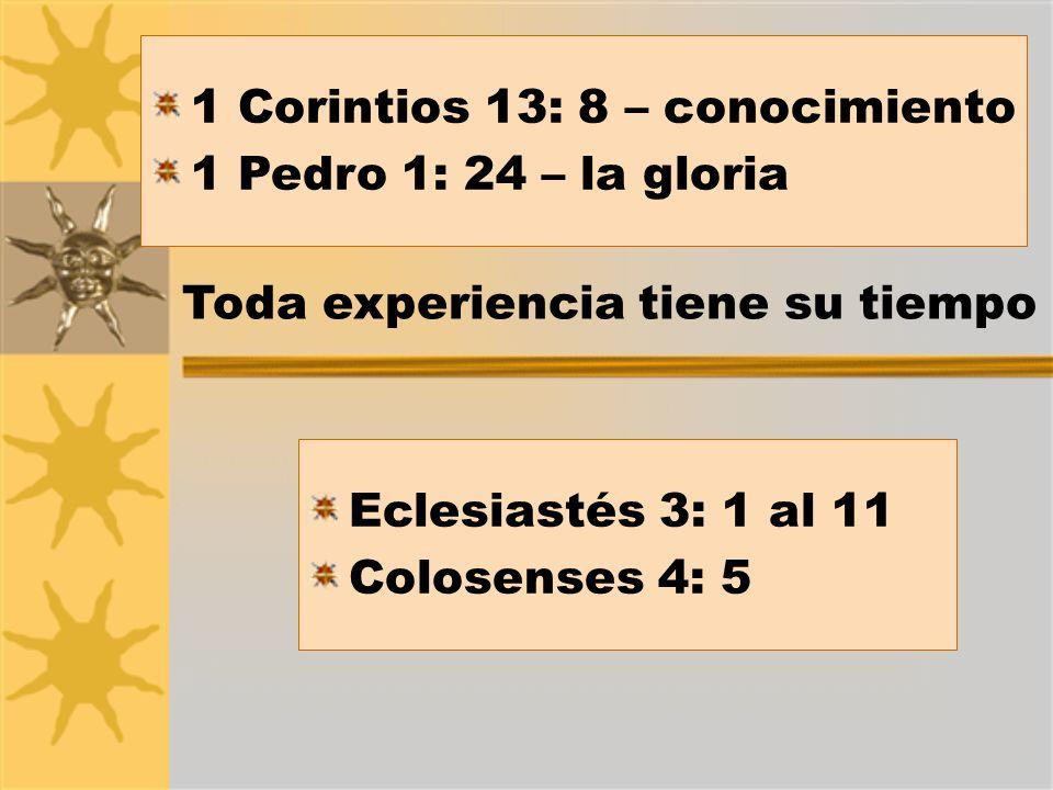 Dios nos ordena aprovechar sabiamente el tiempo Efesios 5: 15 y 16 - Prioridades El carácter y la vocación de una persona están mayormente determinados por cómo y con quién pasa su tiempo