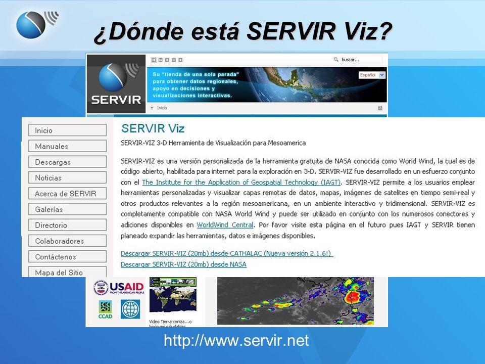 ¿Dónde está SERVIR Viz http://www.servir.net