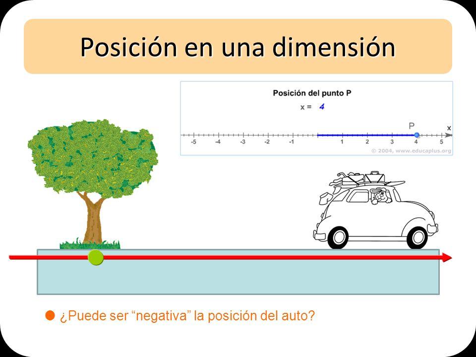 Posición en una dimensión ¿Puede ser negativa la posición del auto?