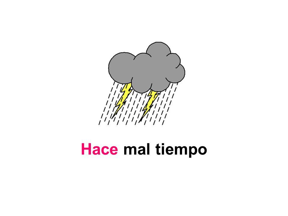 Hace mal tiempo