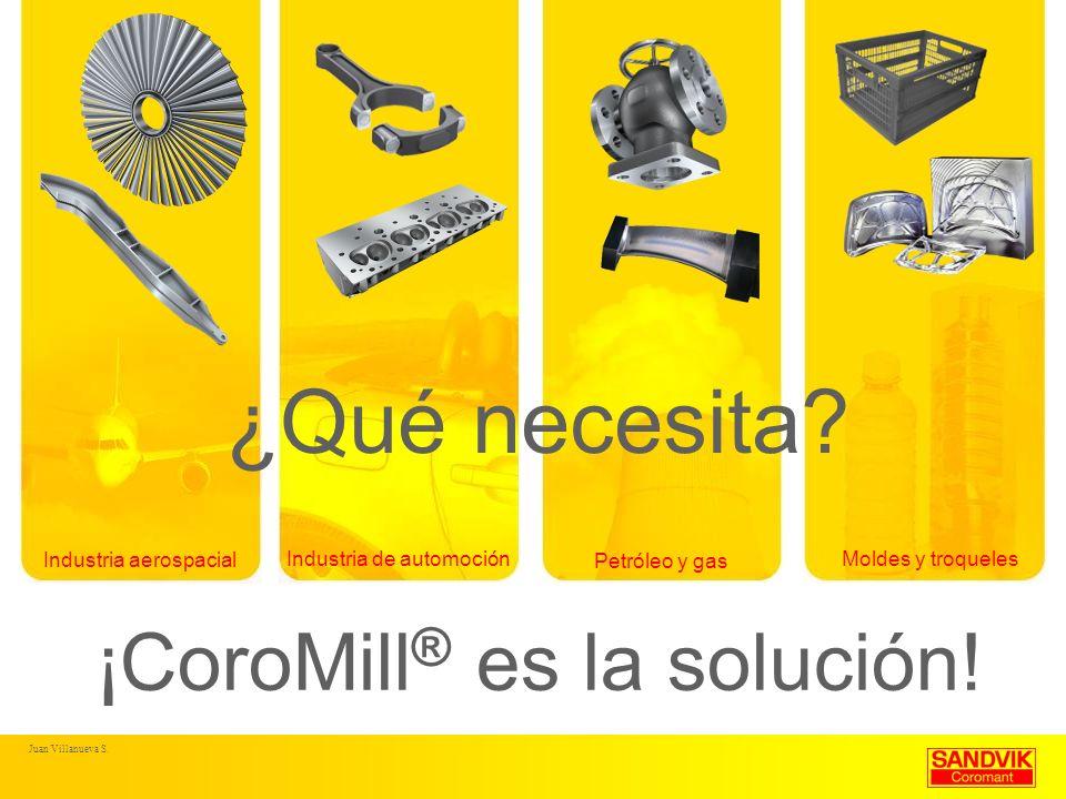 ¡CoroMill ® es la solución! Industria aerospacial Industria de automoción Petróleo y gas Moldes y troqueles ¿Qué necesita?