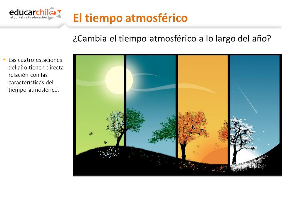 ¿Cambia el tiempo atmosférico a lo largo del año? Las cuatro estaciones del año tienen directa relación con las características del tiempo atmosférico