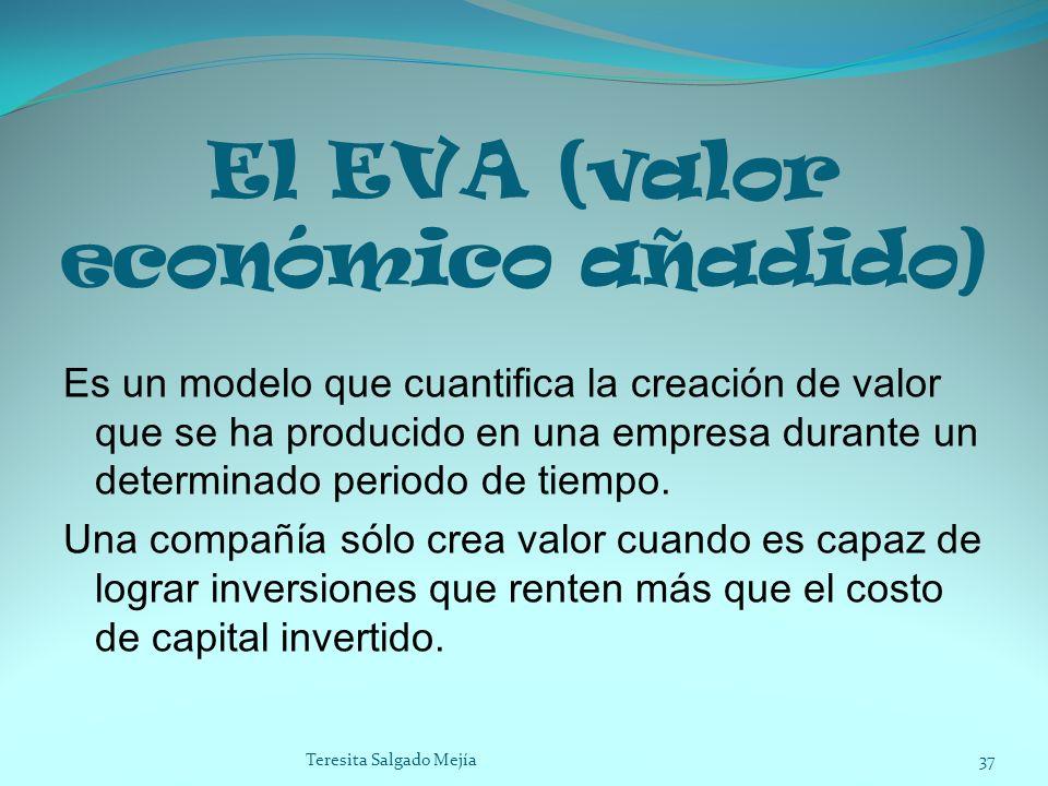 El EVA (valor económico añadido) Es un modelo que cuantifica la creación de valor que se ha producido en una empresa durante un determinado periodo de