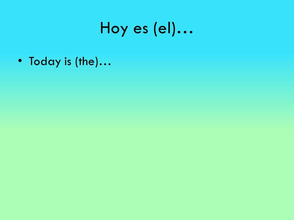 Hoy es (el)… Today is (the)…