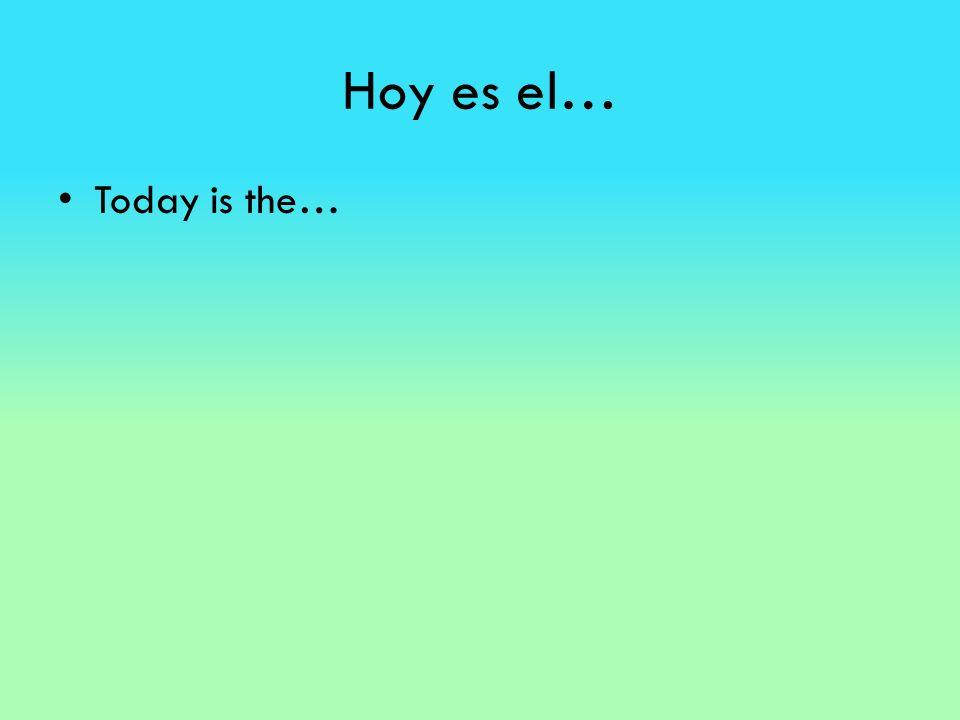 Hoy es el… Today is the…