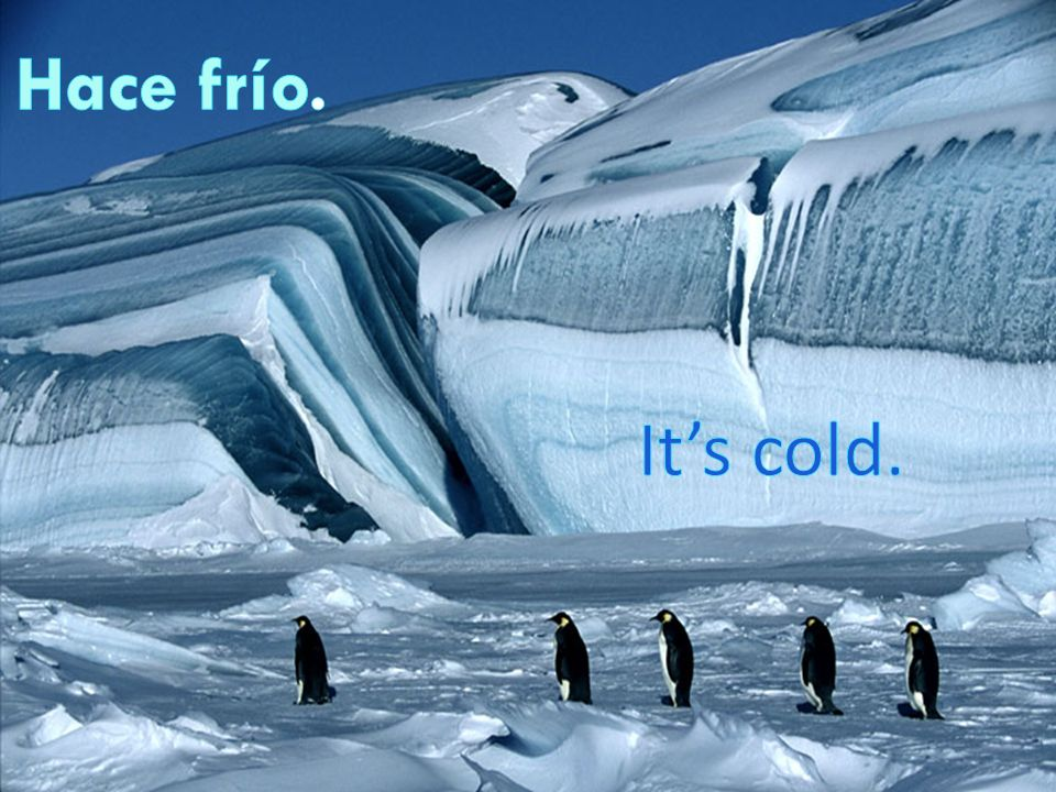 Hace fresco Its cool/brisk.