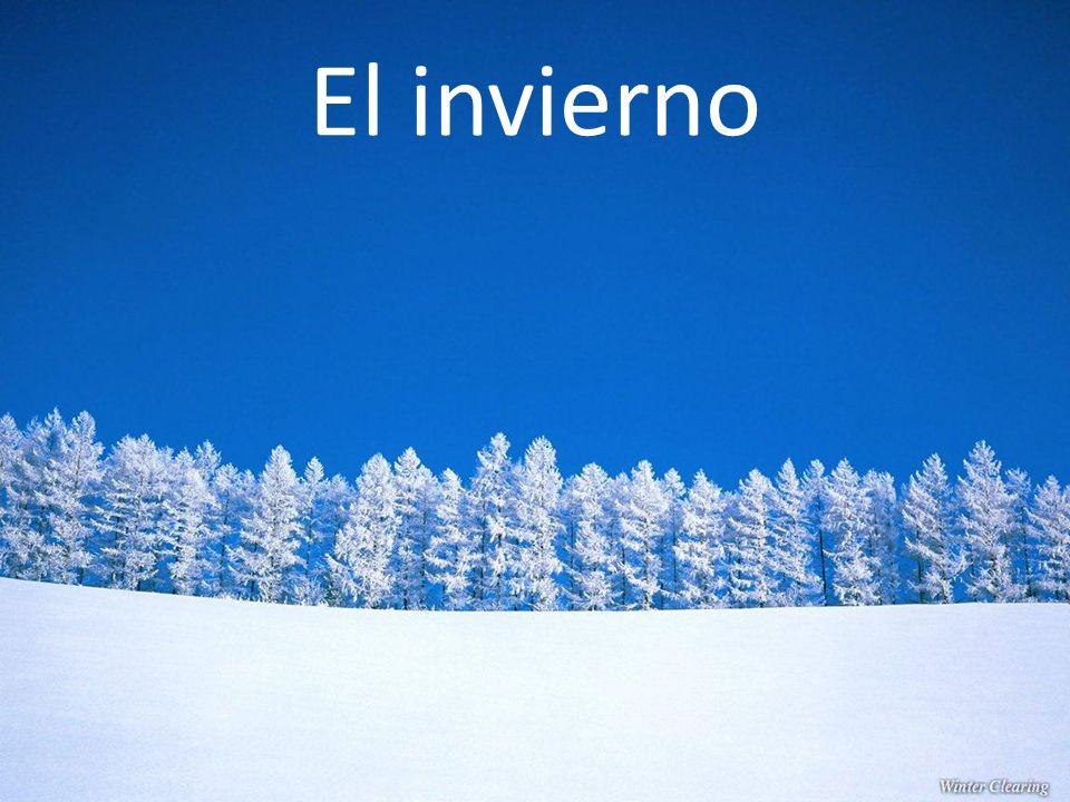 Los meses del invierno diciembre enero febrero ¡Feliz Navidad.