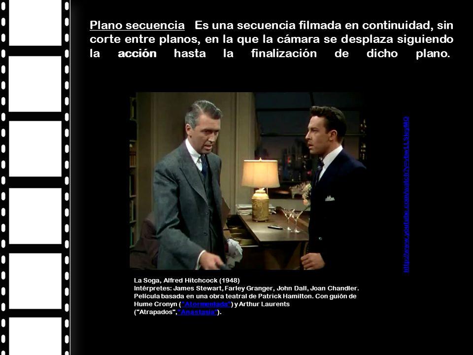 http://www.youtube.com/watch?v=vbwLLSIeyMQ La Soga, Alfred Hitchcock (1948) Intérpretes: James Stewart, Farley Granger, John Dall, Joan Chandler.