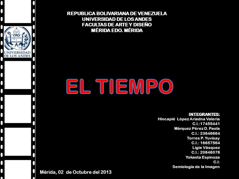 REPUBLICA BOLIVARIANA DE VENEZUELA UNIVERSIDAD DE LOS ANDES FACULTAS DE ARTE Y DISEÑO MÉRIDA EDO.