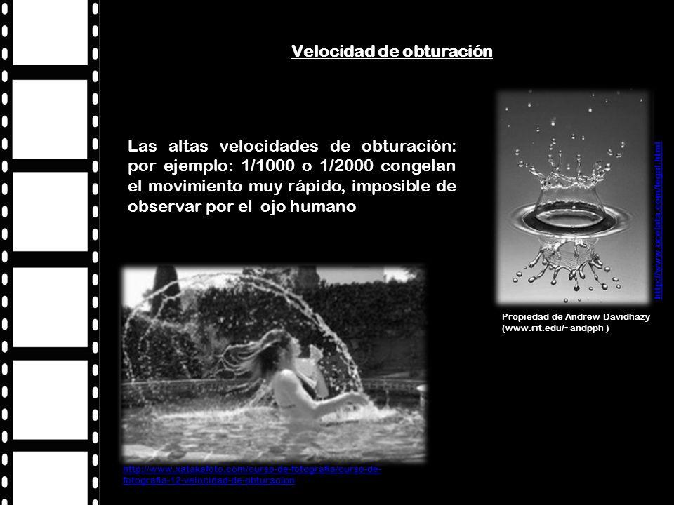 Las bajas velocidades posibilitan la obtención de fotografías en bajas condiciones de luz, logrando también ser utilizadas con fines expresivos para obtener una huella del movimiento de los objetos.