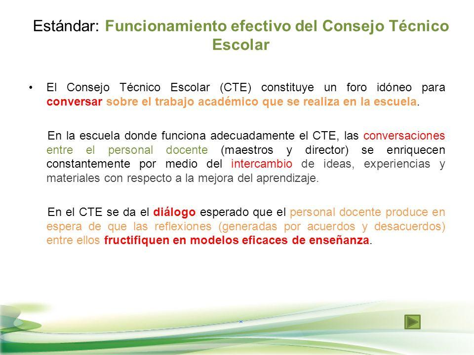 El Consejo Técnico Escolar (CTE) constituye un foro idóneo para conversar sobre el trabajo académico que se realiza en la escuela. En la escuela donde