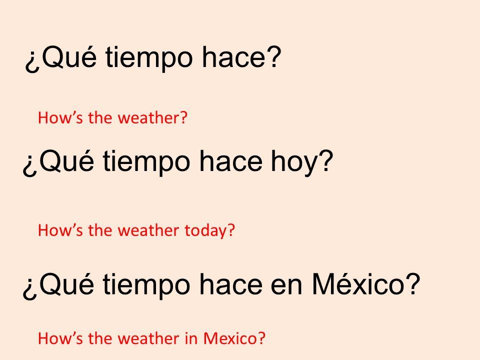 ¿Qué tiempo hace.¿Qué tiempo hace hoy. ¿Qué tiempo hace en México.