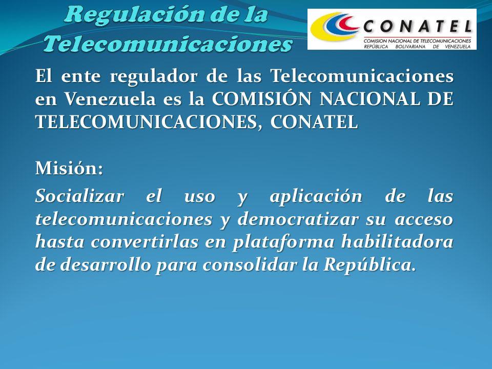 Misión: Socializar el uso y aplicación de las telecomunicaciones y democratizar su acceso hasta convertirlas en plataforma habilitadora de desarrollo
