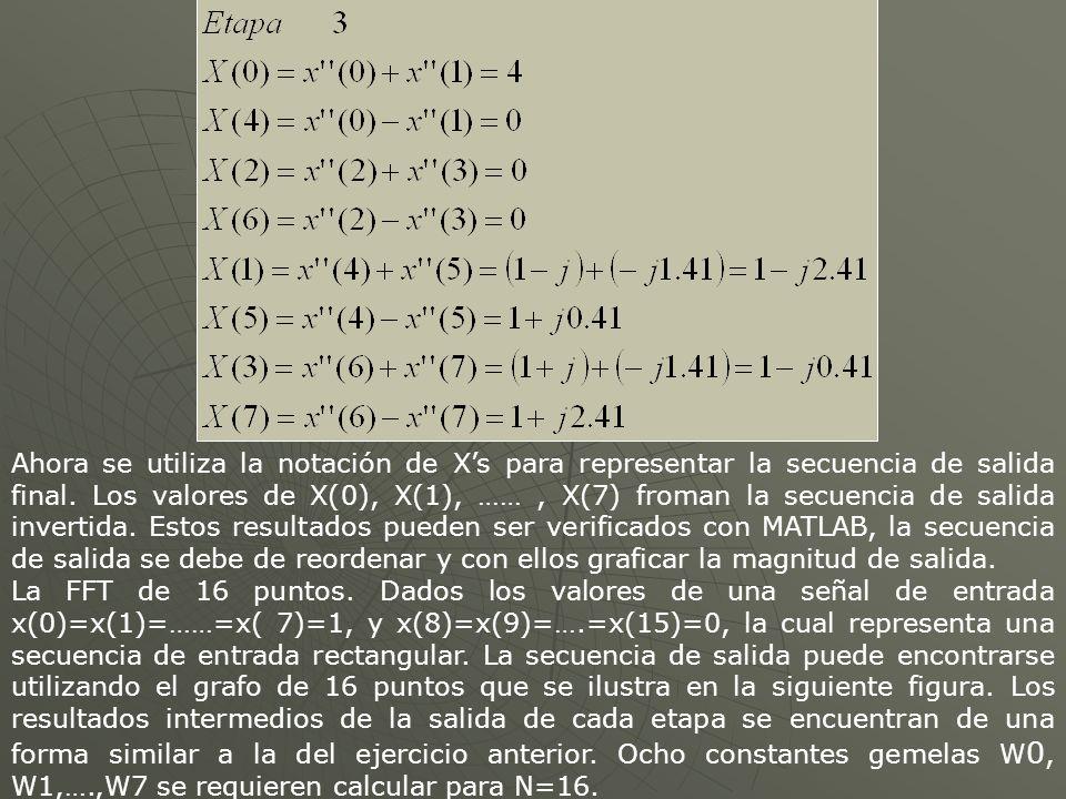 Ahora se utiliza la notación de Xs para representar la secuencia de salida final.