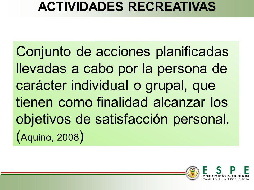 Conjunto de acciones planificadas llevadas a cabo por la persona de carácter individual o grupal, que tienen como finalidad alcanzar los objetivos de