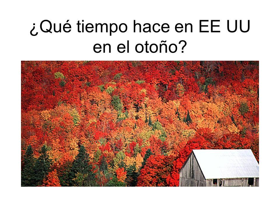 ¿Qué tiempo hace en EE UU en el otoño?