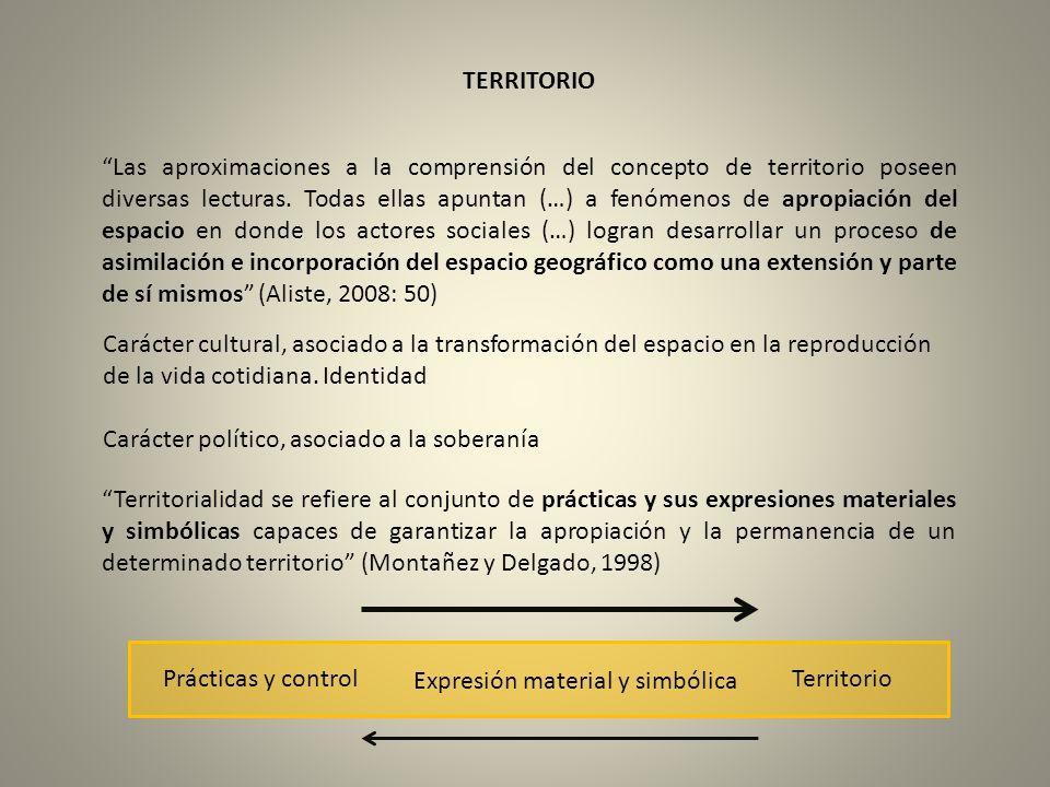 TERRITORIO Las aproximaciones a la comprensión del concepto de territorio poseen diversas lecturas. Todas ellas apuntan (…) a fenómenos de apropiación