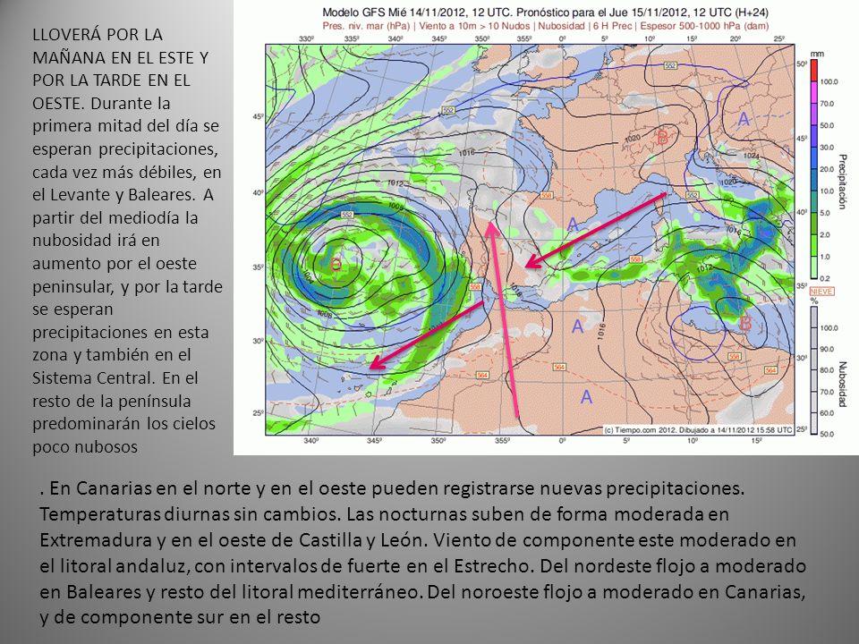 En Canarias en el norte y en el oeste pueden registrarse nuevas precipitaciones.
