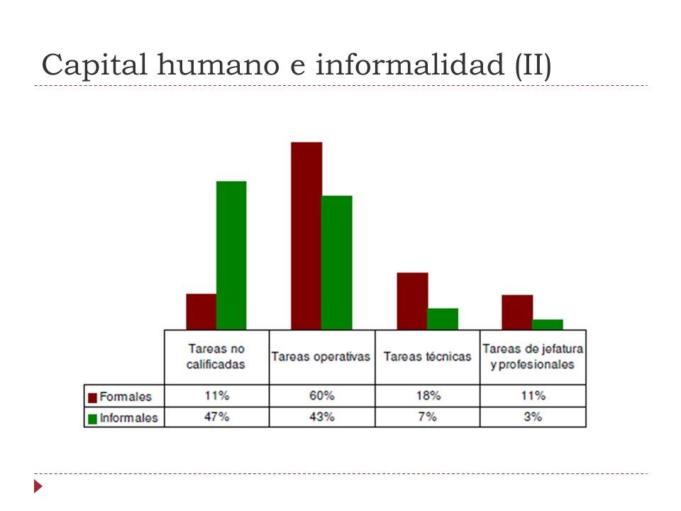 Capital humano e informalidad (II)