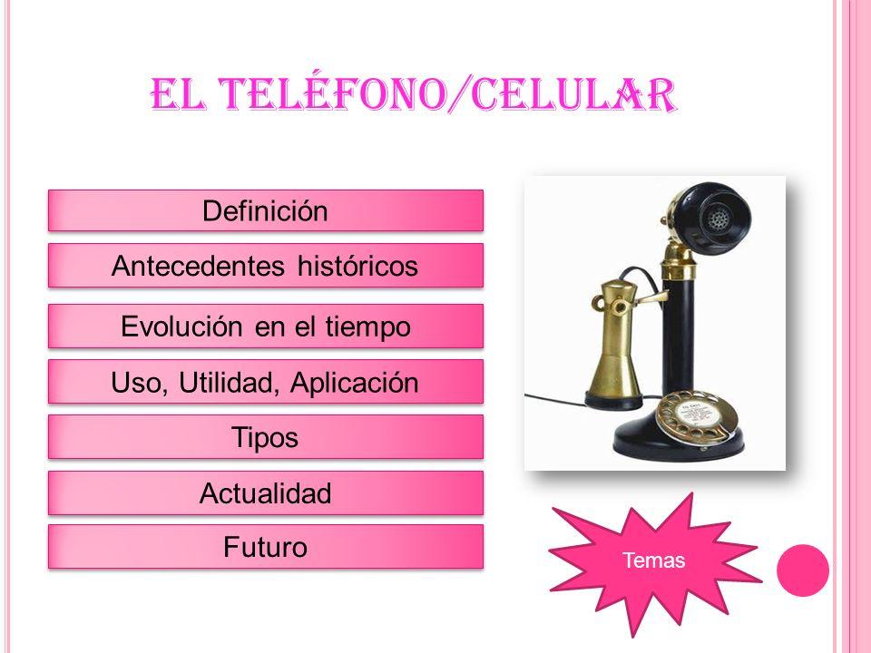 DEFINICIÓN El teléfono es un dispositivo de telecomunicación diseñado para transmitir señales acústicas por medio de señales eléctricas a distancia.