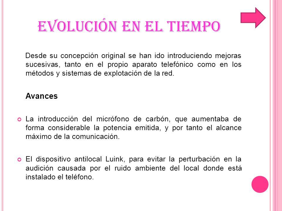 EVOLUCIÓN EN EL TIEMPO La marcación por pulsos mediante el denominado disco de marcar.